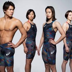スポーツメーカーの20年競泳水着 抵抗軽減さらに