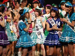 「AKB48選抜総選挙」81位から100位を初発表 ギリギリ圏外に号泣