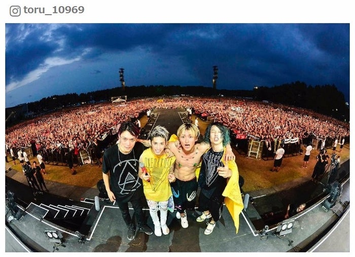 (ONE OK ROCK Toru Instagramより)<br>