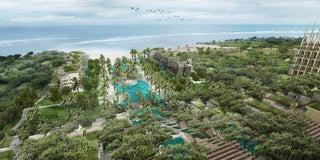 """バリ島に""""野外劇場""""ホテル開業へ、美しい棚田風の建築デザインに"""