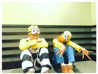 "AAA與真司郎&青山テルマ、おそろ""ミニオン""コスプレが「可愛すぎ」と話題"