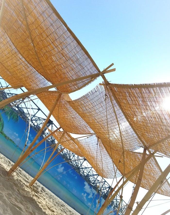ビーチ気分を満喫 タチヒビーチ/画像提供:ソトイク