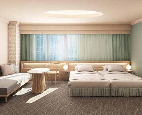 東京池袋「ホテルヒソカ」ダスティカラーがお洒落な客室全てに大型バス&サウナ付