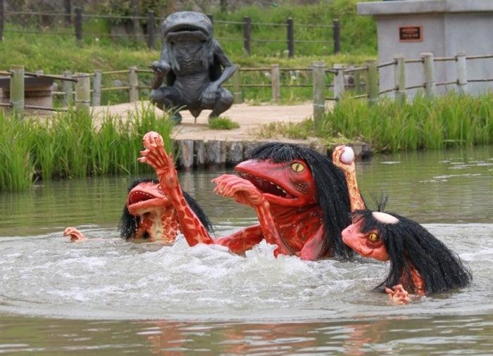 ため池から出没する河童の妖怪(神崎郡福崎町辻川山公園)