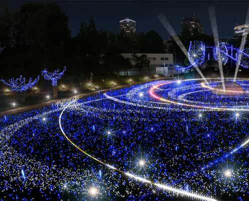幻想的な宇宙イルミが壮大に進化 52万個の光り輝く東京ミッドタウンのクリスマス