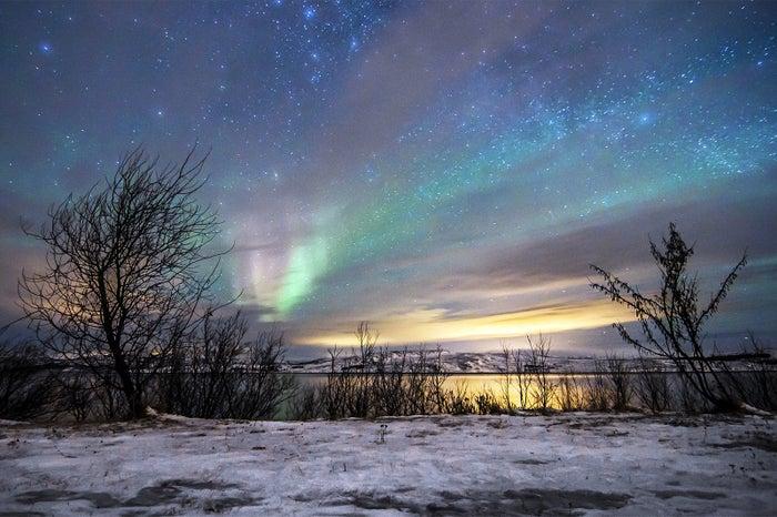 ノルウェーの美しいオーロラ/画像提供:ブッキング・ドットコム・ジャパン