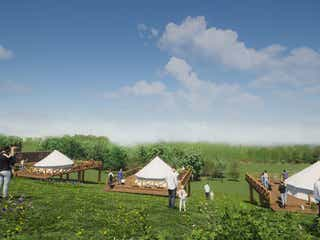 """グランピング施設「マウナヴィレッジ」スパリゾートハワイアンズに、""""山遊び""""の過ごし方を提案"""