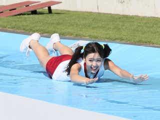 藤田ニコル、可憐なロングスライディング披露 「ロンハー」スポーツテストにくみっきー・みちょぱら参戦