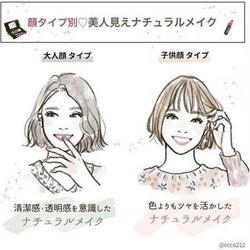【顔タイプ別】美人見えナチュラルメイクのコツ あなたは大人顔or子供顔?