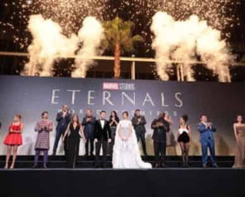 マーベル最新作『エターナルズ』ワールドプレミア開催、アンジェリーナ・ジョリー「日本のみなさんに愛を送ります」