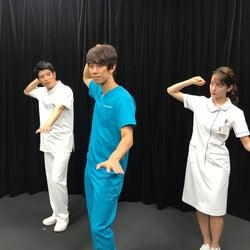 (左から)篠原光アナウンサー、しゅんしゅんクリニックP、後呂有紗アナウンサー(C)日本テレビ