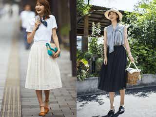 抜群の着回し力!白スカートor黒スカート、どっちが好き?
