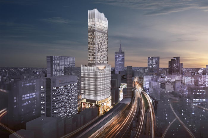 大久保方面(北西側)からの眺望イメージ/画像提供:東京急行電鉄