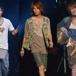 「men's egg」モデル(左から)たけぞー、澤本幸秀、引地敬澄