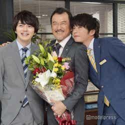 (左から)林遣都、吉田鋼太郎、田中圭(C)モデルプレス
