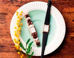 どんなコーデにも上品にマッチ。スクエア型の文字盤がクラシカルな腕時計