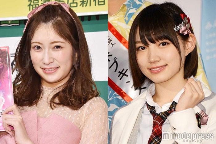 太田夢莉と吉田朱里 (C)モデルプレス