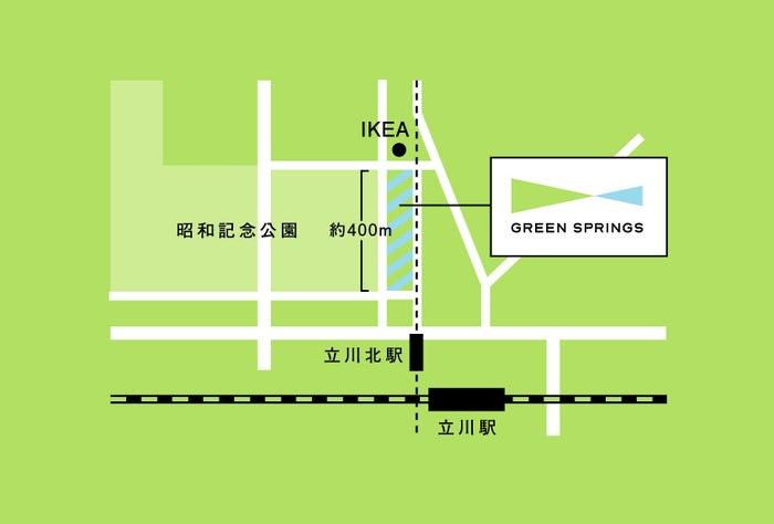 GREEN SPRINGS周辺地図/画像提供:カームデザイン
