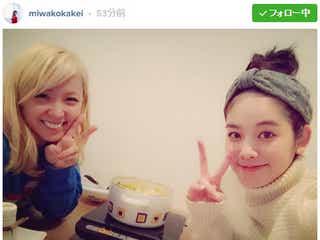 筧美和子、E-girls Amiと「我が家で鍋」意外な交流に反響