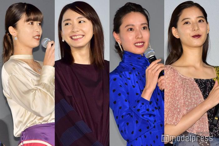 馬場ふみか、新垣結衣、戸田恵梨香、新木優子(C)モデルプレス