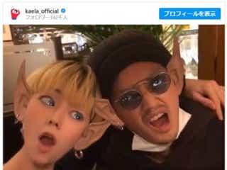 """木村カエラ、夫・永山瑛太と""""宇宙人""""ツーショット公開!"""