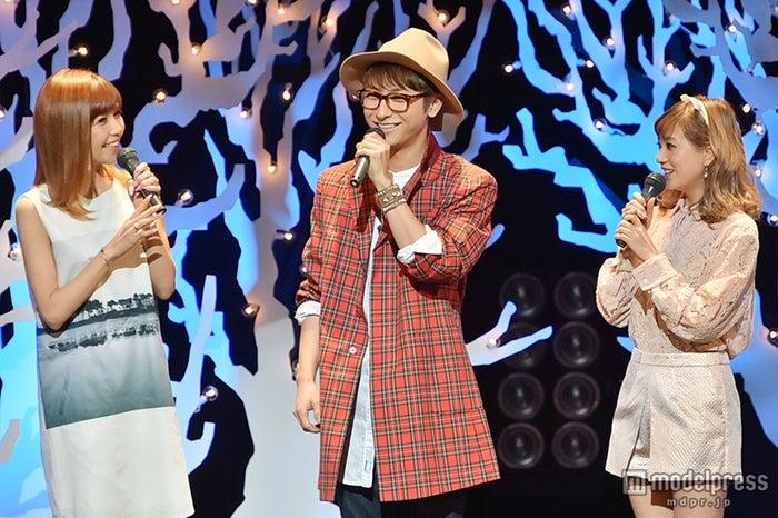 メンバーの仲良しエピソード&バレンタインを明かしたAAA/写真左から:宇野実彩子、與真司郎、伊藤千晃【モデルプレス】