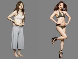 菊地亜美、体重-10.5kg達成 「ライザップ」新CMで美ボディ披露