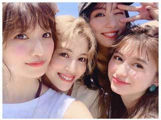 「テラスハウス」小室安未&E-girls楓&石川恋&菜波、美女集結ショットに反響