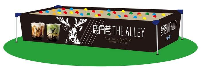 ティースタンド「THE ALLEY」とのコラボコンテンツ「タピオカゾーン」/画像提供:Water Run Festival 2019運営事務局