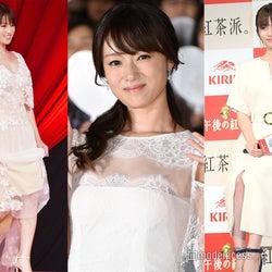 """深田恭子""""大人可愛い""""ドレス&ワンピースの着こなしを真似したい"""