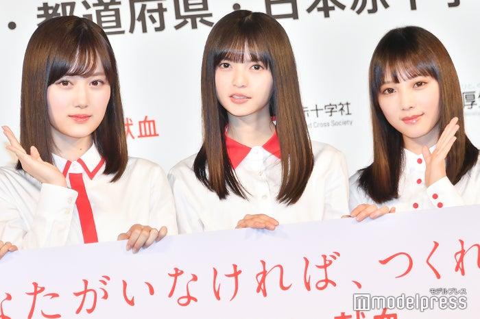 山下美月、齋藤飛鳥、与田祐希(C)モデルプレス