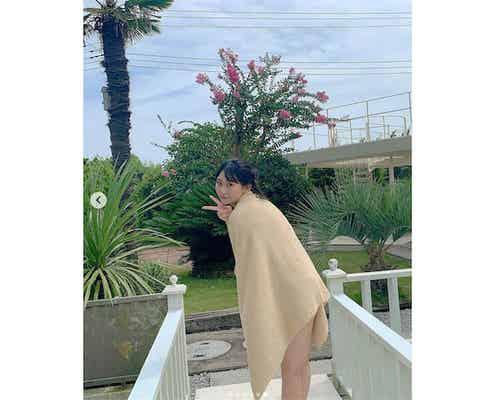 """HKT48 田中美久、20歳を迎えた""""大人みくりん""""グラビアオフショットに絶賛の声"""