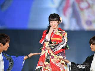 """大倉士門or中島健、ゆらゆらが選んだのは?""""頭ポン""""…和服姿に黄色い声<関コレ2018A/W>"""