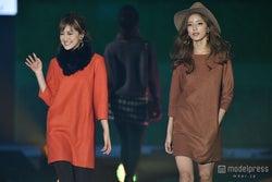 """E-girls藤井萩花&夏恋、""""姉妹""""ランウェイに大歓声<GirlsAward 2015 A/W>"""