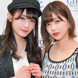 モデルプレスのインタビューに応じた渡辺梨加&渡邉理佐(C)モデルプレス