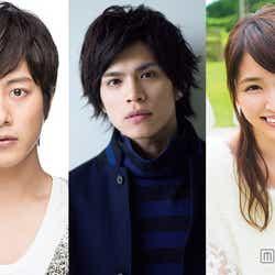 新たな試みを発表した(左から)溝端淳平、山本裕典、岡本玲【モデルプレス】