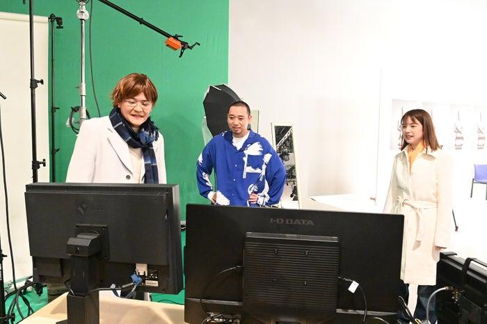 ノブ、大悟、弘中綾香アナウンサー(C)テレビ朝日