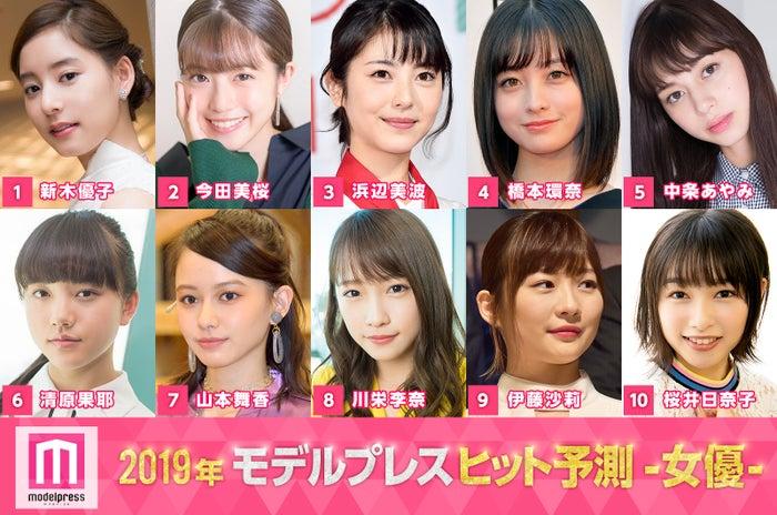 モデルプレスによる「2019ヒット予測」女優部門トップ10 (C)モデルプレス