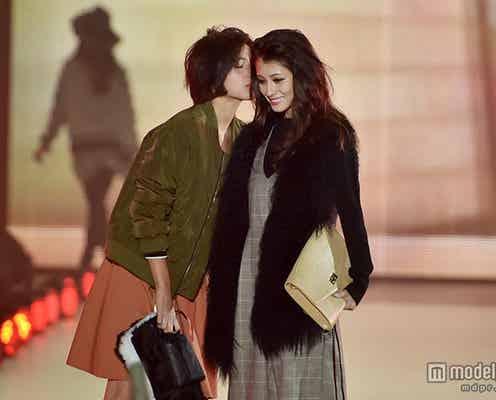 ダレノガレ明美&ラブリがキス 2ショットランウェイで会場沸かす<関コレ2015A/W>