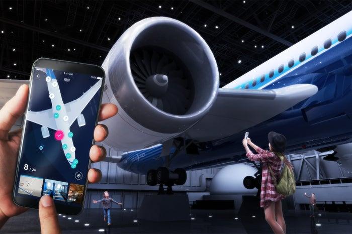 歩いて集める飛行機図鑑/画像提供:中部国際空港