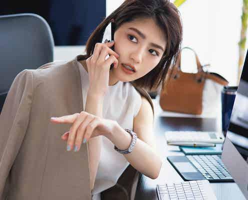 若月佑美、敏腕OLのオンとオフ熱演 「Oggi」でメイク連載スタート