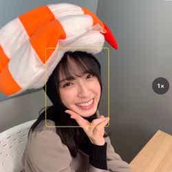 お寿司のコスプレをした金村美玖(撮影:小坂菜緒)/提供写真
