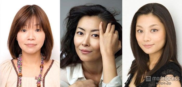スペシャルドラマ「幸せになる3つの買い物」に出演する(左から)大久保佳代子、中山美穂、小池栄子