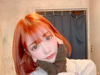 """明日花キララ、""""前髪ぱっつん""""オレンジボブにイメチェン「可愛すぎます」「真似したい」の声"""