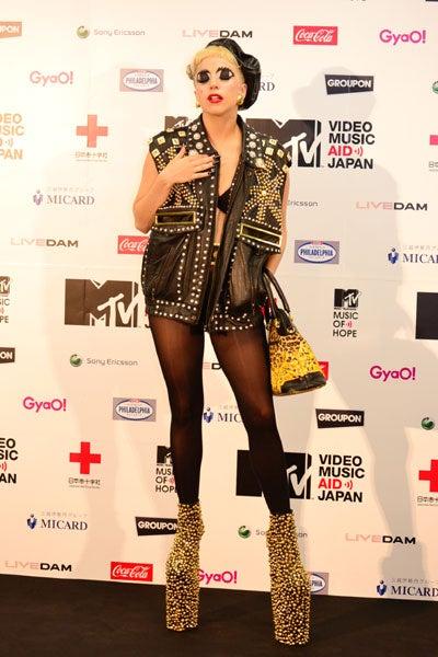 レディー・ガガ/「MTV VIDEO MUSIC AID JAPAN」ライブ終了後の会見にて