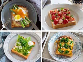 お皿の上は春爛漫!簡単4種のトーストアレンジレシピ集