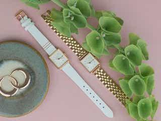 女性の手元を上品に彩る♡アクセとの重ね付けに最適な腕時計