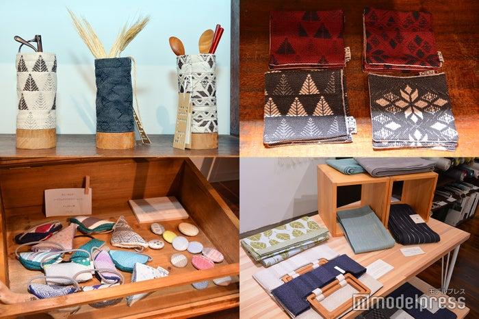 オリジナルの織物で作ったコースターや箸立て(C)モデルプレス