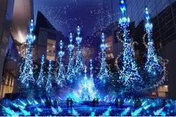 カレッタ汐留、2018年は『アナ雪』『ラプンツェル』イルミ!青の世界で繰り広げるプリンセスストーリー