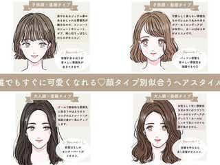 話題の顔タイプ診断でわかる!【4つの顔タイプ別】似合うヘアスタイル